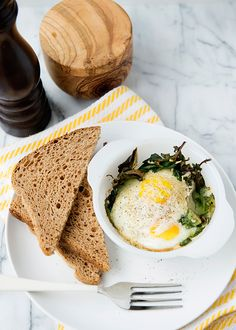 Baked Egg and Kale Cups recipe - Baked Bree