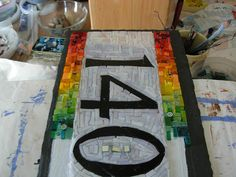 As far as green in the Rainbow House Number Mosaic | Flickr ...This Mosaic was Pinned By www.mosaicnumbers.com