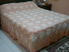 colcha de crochê para cama de casal -  lindíssima!!!