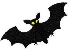 Bat free machine embroidery design 2