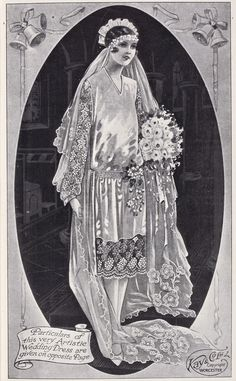 Vintage Beauty, Vintage Fashion, Vintage Bridal, Vintage Weddings, Historical Costume, Illustrations, Here Comes The Bride, Wedding Bride, Wedding Tips