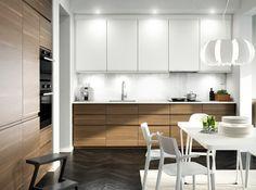 Kjøkken – VOXTORP - IKEA Kitchen Cabinets Reviews, Ikea Kitchen Cabinets, Kitchen Cabinet Design, Kitchen Flooring, Interior Design Living Room, Wooden Cabinets, Wooden Play Kitchen, New Kitchen, Kitchen Decor