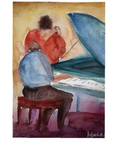"C h e r y l M o r r i c e on Instagram: ""Me and my baby 💋 Watercolour 10x8"" . . . . . #watercolor #watercolorpainting #watercolour #jazz #watercolour #art #artoftheday #artwork…"" Jaz Z, Watercolour Art, Cheryl, Art Day, Artwork, Baby, Instagram, Work Of Art, Auguste Rodin Artwork"