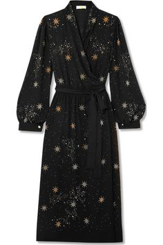 { Micaela embellished crepe wrap dress } casual magic wrap. x-Dallas