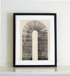 """Radierung Kunstdruck. Minimalist. Architektur: Vault. Druckgröße 15 """"x 19"""" auf Etsy, 184,92€"""