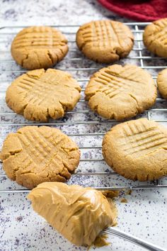 Flourless Peanut Butter Cookies are gluten free, sweet, made with only 5 ingredients and ready to go in under 15 minutes! Gluten Free Peanut Butter Cookies, Gluten Free Cookie Recipes, Peanut Butter Cookie Recipe, Cookies For Kids, Make It Simple, Sweet, Desserts, Food, Candy