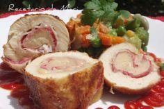 Segundos - Pollo Pechuga de Pollo rellena de jamon, queso y salchichon