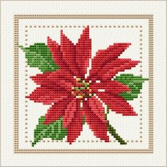 December floral cross stitch