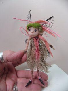 ooak poseable  Thread pIXie FAIRY 83 art doll by by dinkydarlings, $69.00