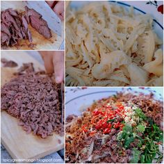 Lao Beef {Larb} Salad Recipe---minced to death and its ready to put together
