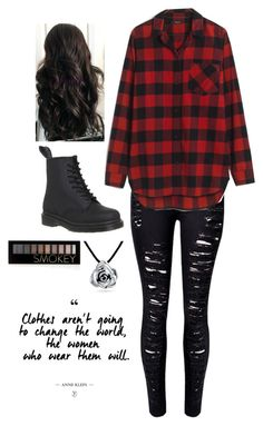 """""""Untitled #3357"""" by if-i-were-famous1 ❤ liked on Polyvore featuring Dr. Martens, WithChic, Madewell, Bling Jewelry and Forever 21"""