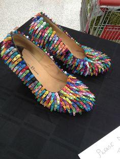 Crazy zipper shoes