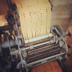 Hollerith punch card machine used for early computing in textile industry