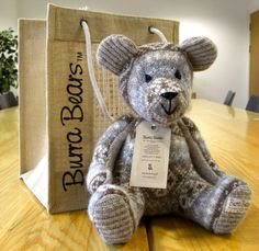 This is a Burra Bear from Shetland, Scotland. She has many to look at on her website. All hand knitted.