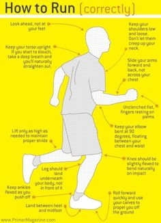 Learn the correct way to run.