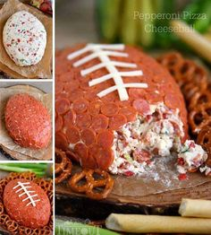 Make this delicious cheese ball shaped like a football! Pepperoni lovers will go crazy this game day.