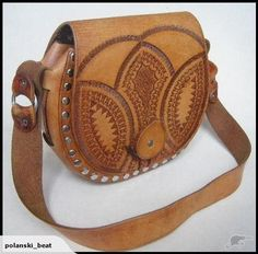 HANDCRAFTED LEATHER~Unique Tooled Vintage Bag | Trade Me