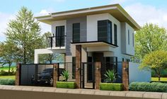Zen House Design Bright Idea House Modern Of Samples Zen House Design, Bungalow Haus Design, Two Story House Design, 2 Storey House Design, Duplex House Design, Simple House Design, Two Storey House, House Front Design, Modern Zen House