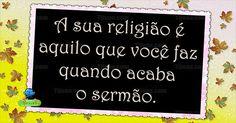 A sua religião
