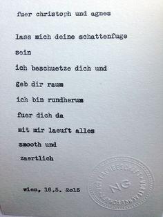 Sag mir ein Wort und ich schreib dir ein Gedicht. Inspiration: Schattenfuge.
