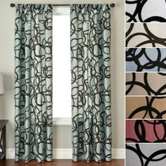 """Fiona Modern Velvet Faux Silk Curtain 84"""" Long Panel by Softline Home Fashions. $41.99. Luxurious Faux Silk Rod Pocket Curtain Panel Faux Silk Taffeta Curtain fabric 55"""" Wide Pocket Panel 3"""" Rod Pocket, 4"""" Bottom Hem, 1"""" Double Folded Side Hems Extra long window curtains now available in 4 lengths: 84"""" long, 96"""" long, 108"""" long and 120"""" long Available in a full color palette Panels sold individually Lining available on all panels for additional charges. Rod & Hardware Sug..."""