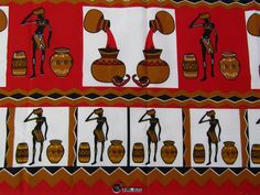 Your place to buy and sell all things handmade African Animals, African Art, Hanging Fabric, African Clothing For Men, Wedding Fabric, Red Fabric, African Fabric, Handicraft