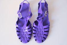 Vintage Jelly Shoes  1980s Sandals  Beach von PaperdollVintageShop, €29.90