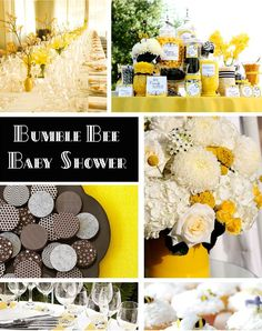 Bee theme party (baby shower, baby birthday, kids party, children)