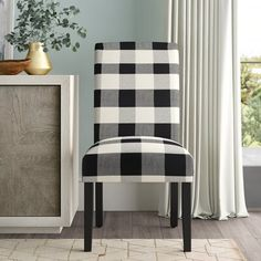 Jappic Tufted Linen Upholstered Side Chair in Black Solid Wood Dining Chairs, Upholstered Dining Chairs, Dining Chair Set, Dining Room Chairs, Side Chairs, Comfortable Dining Chairs, Chair Upholstery, Extendable Dining Table, A Table