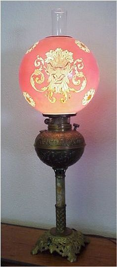 """Antique lamp, beautiful.  Some people refer to this lamp as a """"Gone With The Wind Lamp"""" as seen in the movie by the same name."""