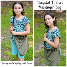 Sewing and Crafting with Sarah: Recycled T-Shirt Messenger Bag