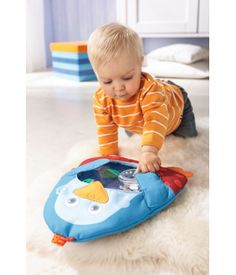 Add adventure and comfort to playtime with the HABA Little Penguin Water Play Mat. The carefully-stiched penguin encloses a polyester-covered mat. Water and exciting shapes fill the mat. Baby's First Christmas Gifts, Babies First Christmas, Water Play Mat, Baby Sense, Parenting Toddlers, Tummy Time, Soft Fabrics, Bean Bag Chair, Infant