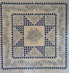 Blue work quilt.  I'm in the process of hand quilting it, if I could ever get off Pinterest. LOL