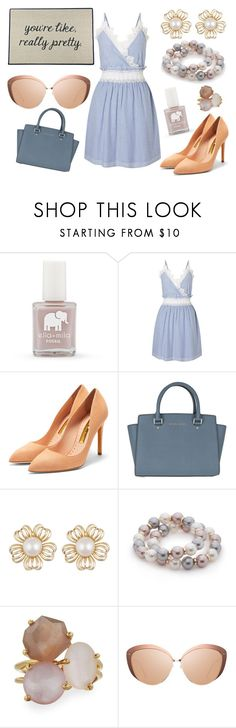 """""""you're like, really pretty..."""" by north40designs ❤ liked on Polyvore featuring FOSSIL, Miss Selfridge, Rupert Sanderson, MICHAEL Michael Kors, New Directions, Ippolita, Linda Farrow, Be There In Five, dress and pastels"""
