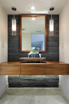 Moderner Waschbeckenschrank Holz Praktisch Design