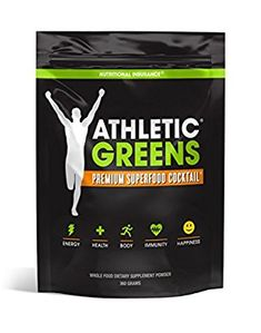 Amazon.com: Athletic Greens Premium Green Superfood Cocktail - Complete Greens Powder Greens Supplement herbal extracts Alfalfa chlorella spinach grape seed extract for superior health - 30 Serving Pouch (360g): Health & Personal Care