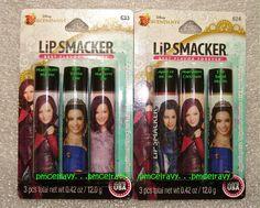 Lip Smacker Disney Descendants Lip Gloss Balm Carded Sealed Evie Mal 1 Set #LipSmacker