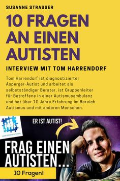 Tom Harrendorf (Autist) im Interview mit Susanne Strasser Tom Harrendorf beantwortet 10 Fragen über seinen Autismus #autismus #autismusspektrum #susannestrasser #tomharrendorf Youtuber, Interview, Asperger, 10 Years, Social Media