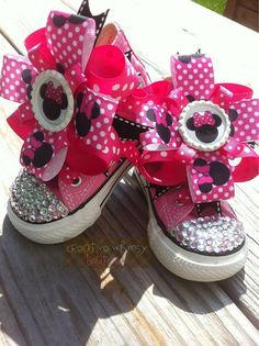 f726c3d6905e Customized Bling Converse. Bling ConverseBaby ConverseCustom ConverseBling  ShoesMinnie Mouse ...