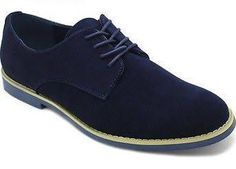Men's Casual Shoes Classic Silhouette Lace Up Oxfords Alberto Fellini Gray Navy