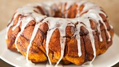 You won't believe how easy this Cream Cheese Cinnamon Roll Monkey Bread recipe is. The secret? It's made with cinnamon rolls for a treat that only requires 3 ingredients. Cinnamon Roll Monkey Bread, Cinnamon Roll Pancakes, Cinnamon Rolls, Cinnamon Swirls, Oven Pancakes, Pancake Pan, Brunch Dishes, Brunch Recipes, Breakfast Recipes