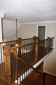 Banisters, Stair Railing, Railings, Wrought Iron Stairs, Great Rooms, Shed, New Homes, Uh Huh, Staircases