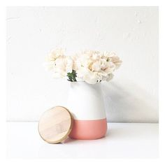 How lovely is this canister from @therejectshop! It also comes in the colours aqua and yellow, and is a steal at just $6! #canister #vase #homedecor #therejectshop