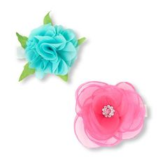 Girls Mixed 3D Floral Hair Clips 2-Pack - Multi - The Children's Place