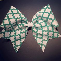 3in. Glitter Moroccan Boho Cheer Bow by BowsByTeri on Etsy