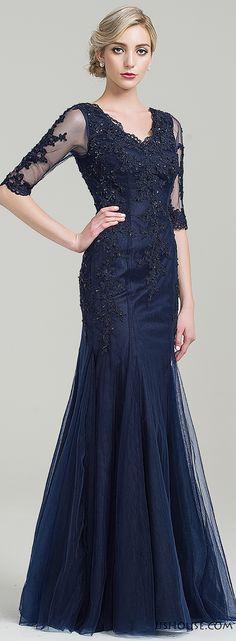 Dark navy mother of the bride/groom dress. #motherdress