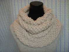Openweave Ivory Cowl Lacey Aran Hand Knit Neck by barleyandflax