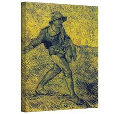 ''The Sower'' by Vincent Van Gogh Painting Print on Canvas