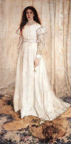 """""""White girl"""" by  James Whistler"""