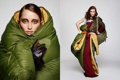 Iekeliene Stange AvantGarde Magazine Editorial Features Couture Covers #sleepingbags #camping trendhunter.com